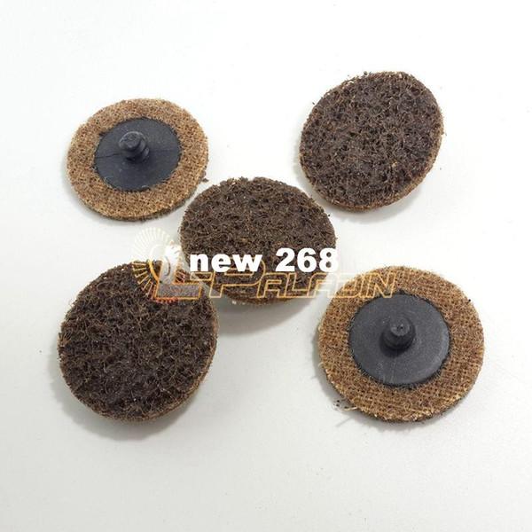 "top popular 100 pieces 2"" Italy Premium Quality Nylon Coarse Grinding Disc Interchangable Roloc Non-woven Backed Abrasive Disc 2021"