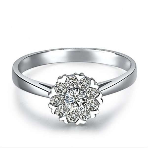 LCZ Jewelry 925 silver 1 ct cushion cut simulated diamond halo engagement rings for women jewelry,14k white gold plated Wedding ring