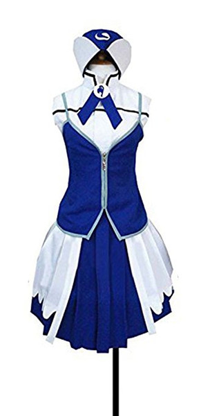 Anime Fairy Tail Juvia Cosplay Costume Halloween Party Dress