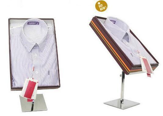 Matte New store window display fixture Metal Shirt Blouse T-Shirt Holder stand Desktop showing display rack to show T-Shirts