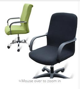 free shipping office Computer chair cover side zipper design arm chair cover recouvre chaise stretch rotating lift chair cover Large size