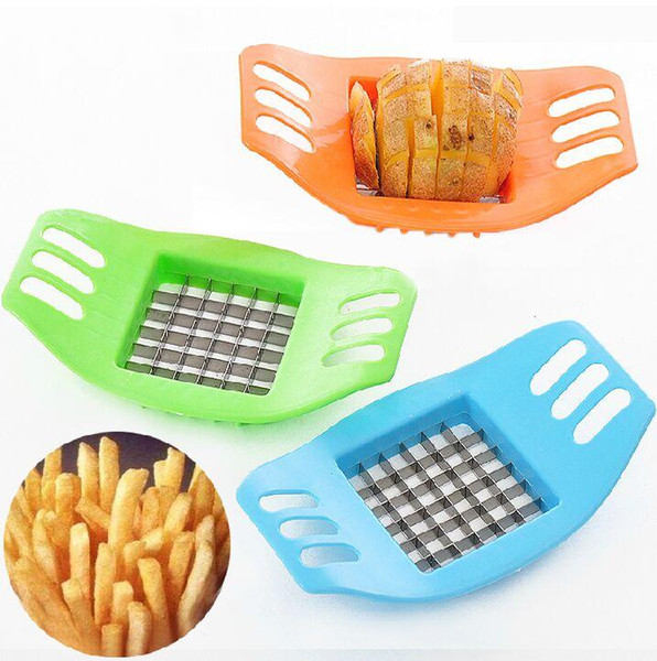 Free shipping Cooking Tools Stainless Steel Cutter Potato Chips Vegetable Slicer Tools Kitchen Tools Potato Mashers Tools