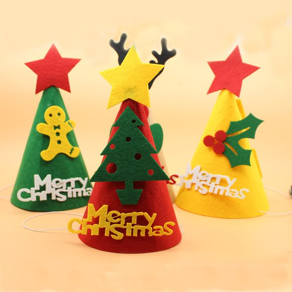 Superior Christmas Party Hat Ideas Part - 6: Wholesale Christmas Hats DIY Santau0027s Hat Christmas Decoration Hat DIY  Handmade Gifts Felt Cloth Decorative Hat