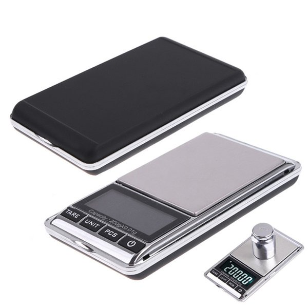 Portable 200gx0.01g Mini Digital Scale Diamond LCD Electronic Pocket Case Kitchen Jewelry Diamond Balanca Weight Scales