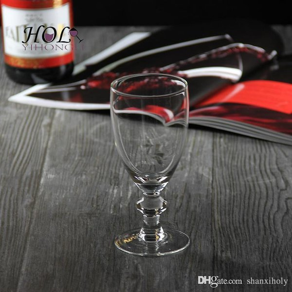 High end short stem wine glass wine cup can be printed logo