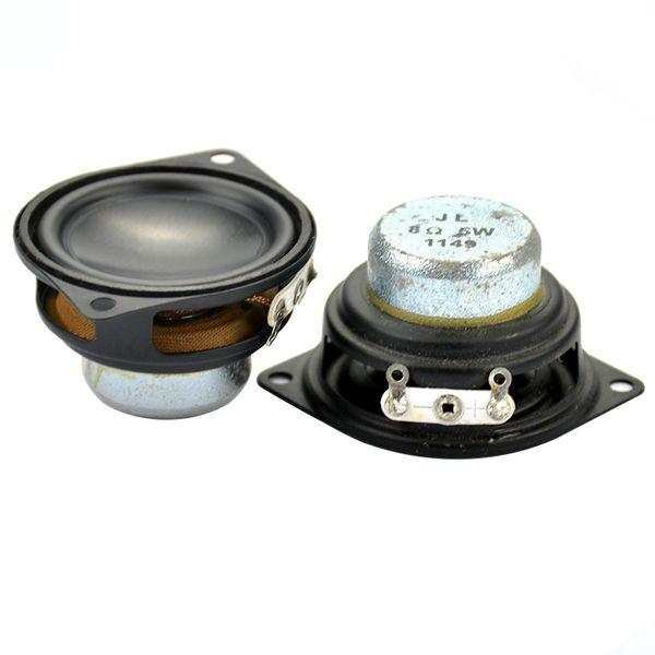 Freeshipping 2pcs 1.5 inch 8 ohm 5 W Neodymium Magnet Full Range Audio Speaker Loudspeaker