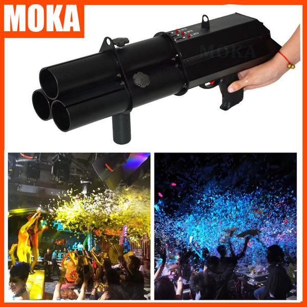 Moka MK-C27 Parti Konfeti Başlatıcısı Cannon makinesi, Konfeti Cannon, elektrik konfeti silah makinesi için sahne efekt makinesi parti düğün