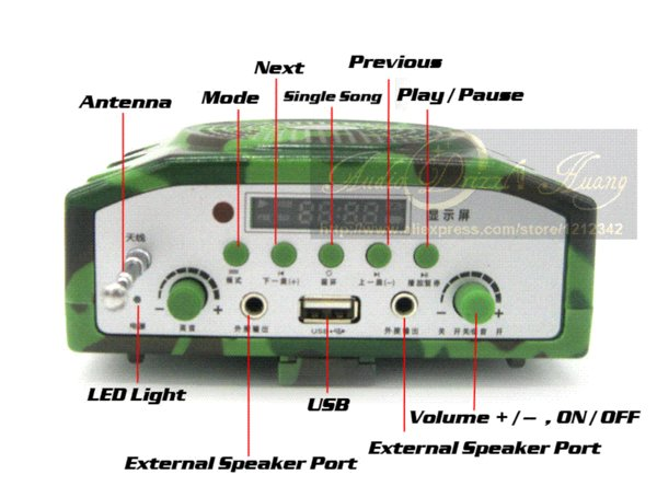 Caza al aire libre Bird Caller Reproductor de MP3 800 M Control remoto 888 unids Aves Sonido Altavoz Con Altavoz Externo Camo Decoy Bolsa