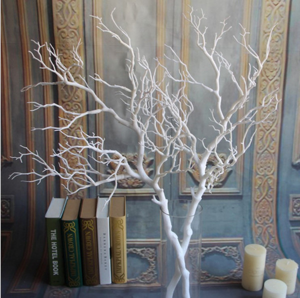 24 pcs/lot European High-grade White Coral Branch Artificial Flower Craft Ornament For Wedding Centerpiece Decoration Props