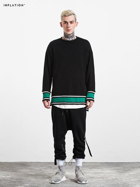 2017 осень новый полосатый свитер мужчины Slim Fit мода повседневная пуловер вязаный свитер высокого качества MT017011