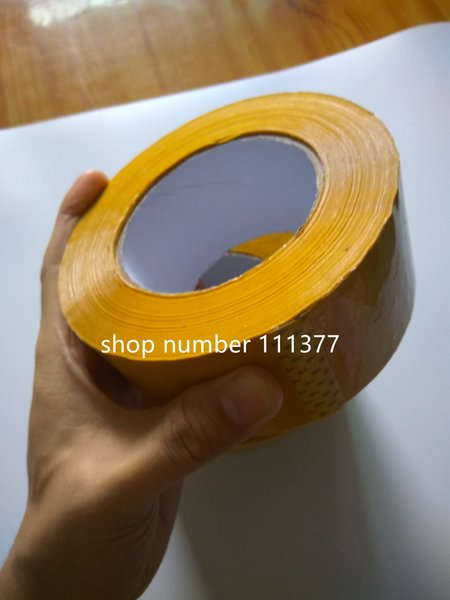 top popular Preferential big BOPP thick single side yellow Sealing tape carton box multifunctional adhesive Packaging tape width 5.5 cm thickness 2.3cm 2021
