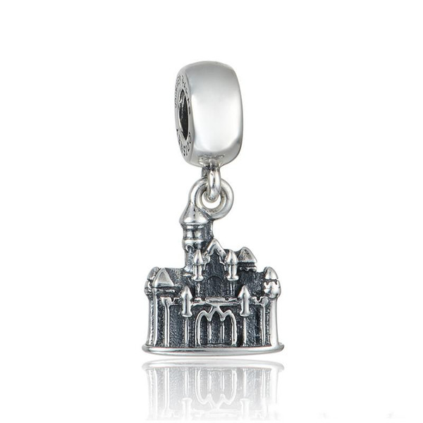Charms castle pendant beads S925 sterling silver fits for pandora style charm bracelets free shipping aleCH629H9