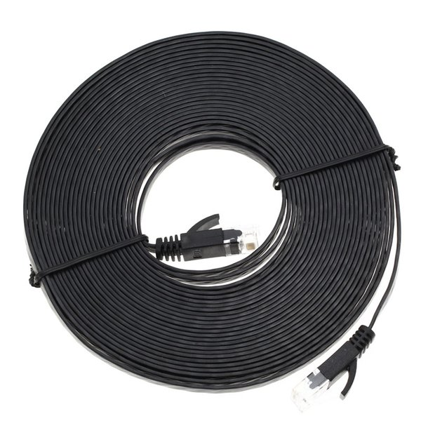 Wholesale- High Quality 1M/1.8M/3M/5M/7.6M/10M Aurum Cables Flat CAT6 Flat UTP Ethernet Internet Network Cable RJ45 Patch LAN Cable