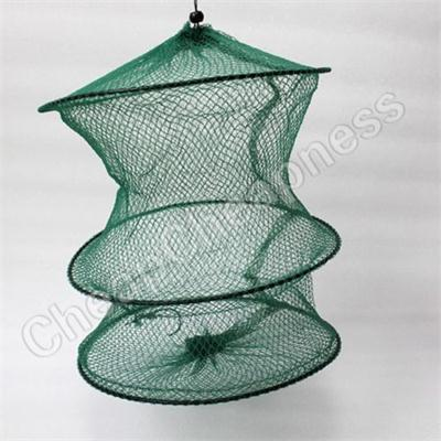 Wholesale-High Quality per Nylon Fishing Net Cage Crab Fish Crawdad Shrimp Minnow Fishing Bait Trap Dip Net Cage