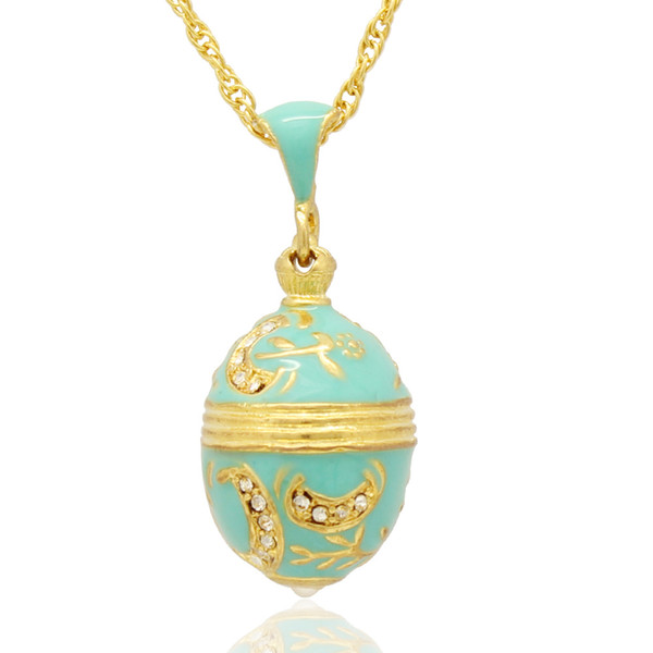 hand craft enamel branches and flower pendant charm necklace Faberge Egg STYLE Pendant for Easter day