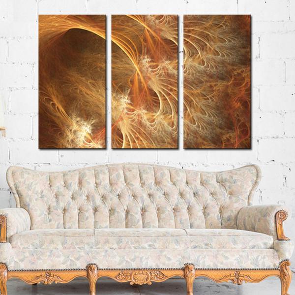 Acheter 3 Pièces Rouge Et Orange Pour Peintures à L Huile Abstraites Cadeau Impression Sur Toile Les Peintures Murales D Art Photo Pour Le Décor De