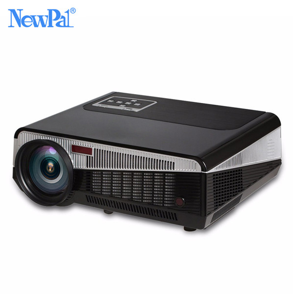 Wholesale- 3000 Lumens Smart LED Projector 3D TV Android Projector Full HD 1080P Home Theater Business WIFI Projector AC3 Bluetooth