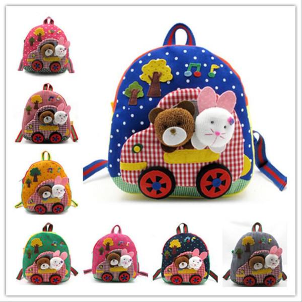 2016 Nova Chegada das crianças mochilas do bebê Crianças Artesanais Mochila Mochila escolar sacos Satchel livro saco Frete Grátis