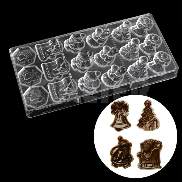 Plastic Christmas series candy chocolate mold DIY Cute Santa Claus chocolate making tools candies and sweets baking pastry mould
