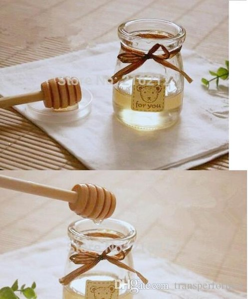 2000pcs 8cm MINI Wooden Honey Dippers Wedding Favors