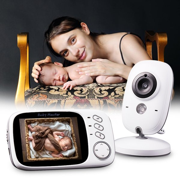 Wholesale- DBPOWER Infant 2.4GHz 3.2'' LCD Display Wireles Baby Monitor Babysitter Digital Video Baby Camera Audio NightVision Babymonitor