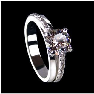 Großhandel 2017 Neue Ankunft Sona Synthetische Diamant Hochzeit Ring 925 Sterling Silber Schmuck 18 Karat Weißes Gold überzogen Verlobungsring Für