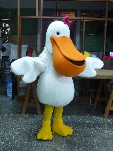 Hochwertige Real Bilder Deluxe Pelikan Maskottchen-Kostüm-Maskottchen-Zeichentrickfilm-Figur-Kostüm-erwachsene Größe geben Verschiffen frei