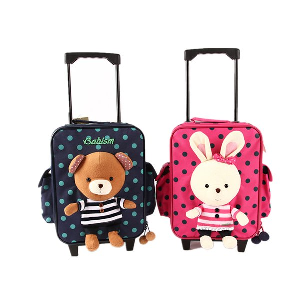 Cheap Babism Kids Toddler Rolling Luggage Wheels School Travel Bag ...