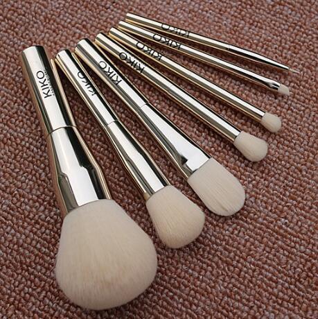 7pcs Kiko Makeup Brushes Tools Kits Blush Eyeshadow Powder Foundation Brand Professtional Metal Handle Make Up Brush Set Cheap DHL Free Ship
