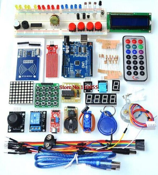 best selling Upgraded Advanced Version Starter Kit the RFID learn Suite Kit LCD 1602 for Arduino UNO R3
