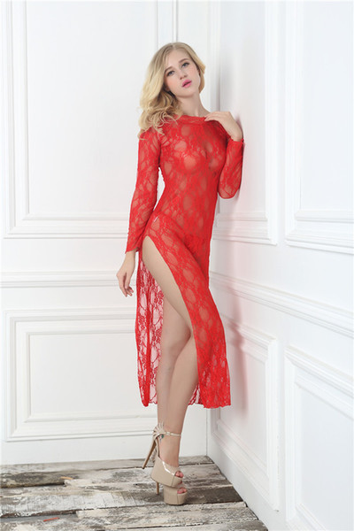 Vente chaude De Haute Qualité Plus La Taille 3XXXL Longue Robe En Dentelle Sexy Sans Bretelles Babydoll Exotique Vêtements Lingerie