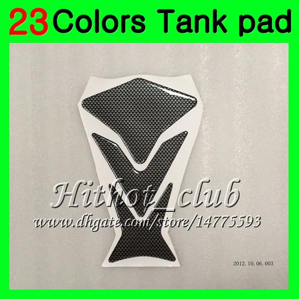 23Colors 3D Carbon Fiber Gas Tank Pad Protector For HONDA CBR600RR 14 15 16 17 CBR600 RR CBR 600 RR 2014 2015 2016 2017 3D Tank Cap Sticker