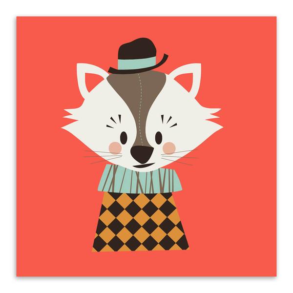 Satin Al Modern Kawaii Hayvan Kafasi Kedi Panda A4 Buyuk Sanat