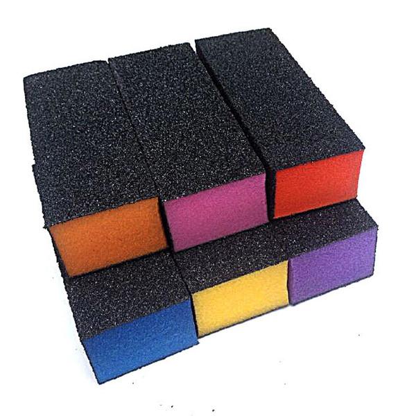 Al por mayor-5pcs / Lot negro bloque de lijado color de la mezcla del corazón de pulido lijado Buffer archivos Bloque acrílico Nail Art manicura Set Nuevo diseño, perfecto