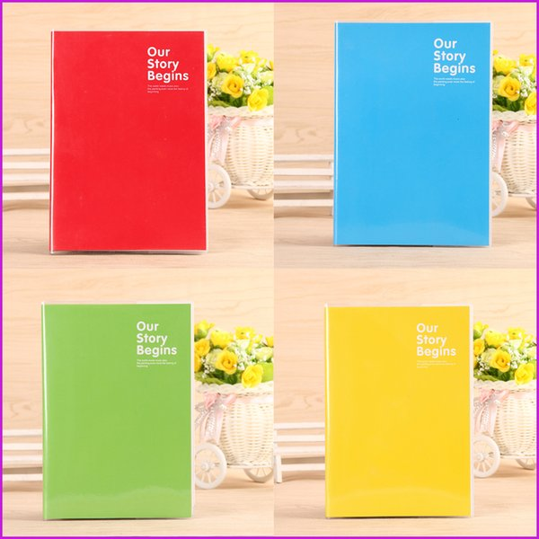 """A5 Size Softcover Notebook / Journal / Diary Notepads, Red Yellow Blue Green Color Ruled Notebooks -68 Sheets (21 * 15cm / 8.2"""" x 5.9"""")"""
