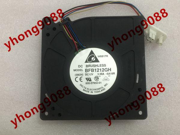 Дельта BFB1212GH -6A19R постоянного тока 12В 3.96 4-проводной 4-контактный разъем 110мм 120X120X32mm сервер вентилятора