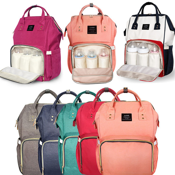 Diaper Bags Mommy Backpack Nappies Backpack Fashion Mother Maternity Backpacks Outdoor Nursing Travel Storage Bags 13 Color WX-B15