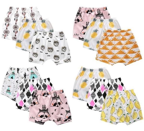 Kleinkind Shorts Baby Jungen Casual Hosen Ins Fashion Leggings Früchte Fox Panda Auto Sabrina Cropped Hosen Harem Pumphose Infant Kleidung