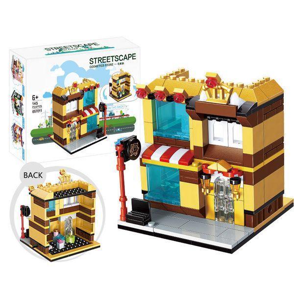 145pcs Street Mini Building Blocks Architecture Kids Figure toys ...