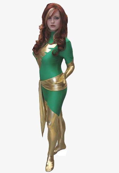Phoenix Women Zentai Lycra tights leotard dress Halloween costume Cosplay costume zentai tights show