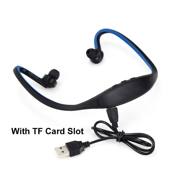 1PCS Bluetooth Headset S9 Sports Wireless Neckband Earphone In FM Function Ear Hook Headphone with TF card Slot