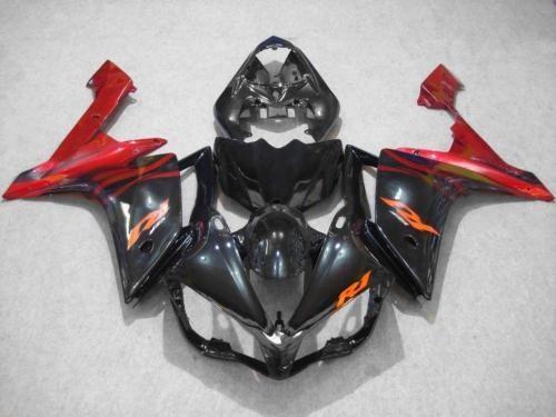 Spritzguss Verkleidung Kit für YAMAHA YZFR1 07 08 YZF R1 2007 2008 YZF1000 yzfr1 ABS schwarz rot Verkleidungen Set + 7gifts YY21