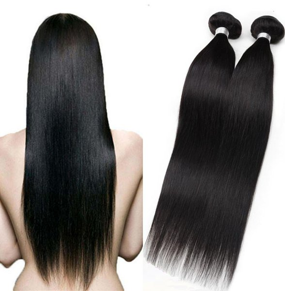 Brazilian Straight Hair Weave hot sale Cheap 3 4 5Pcs Unprocessed Chinese Human hair Weft 7A Great Quality Human Hair Extensions DHgate