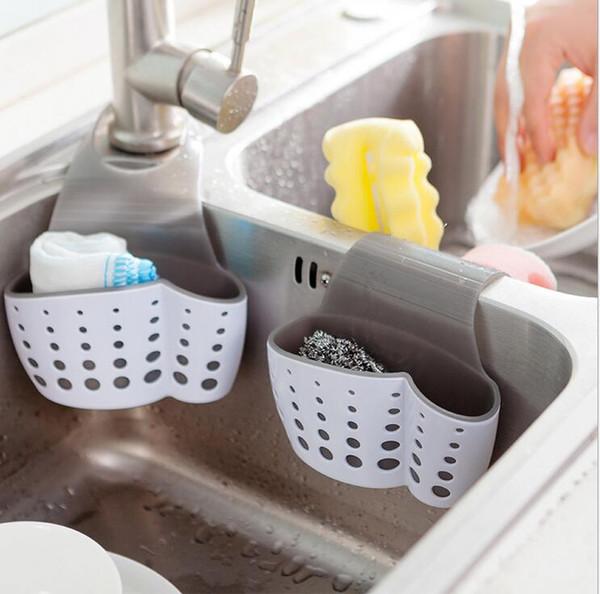 hot sale Cute Kawaii Kitchen Portable Hanging Drain Bag Drain shelf Basket Bath Storage Gadget Tools Sink Holder For kitchen
