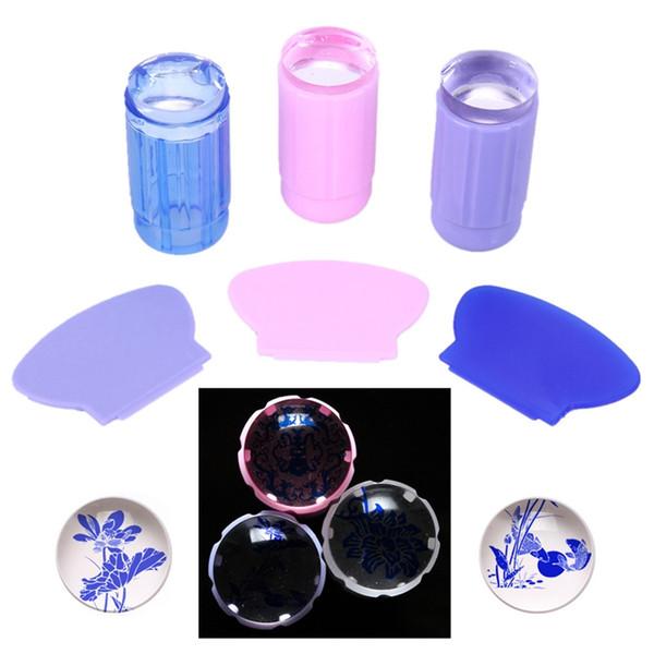 1 Box Pentagram / Butterfly Blue Light Mirror Glitter Silver Flakes Bling Nail Sequins Shinning Nail Art Glitter Paillette Decor