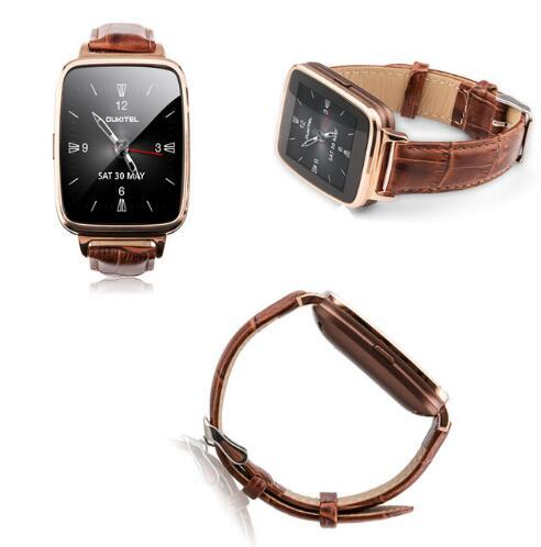 Original OUKITEl A28 for SmartWatch 1.54inch MT2502A bluetooth4.0 Genuine leather band Heart Tracker monitor for IOS and android