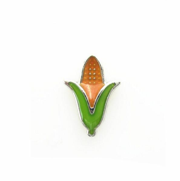 Aleación flotante del cinc de los encantos del medallón del maíz 20pcs / lot para el medallón flotante de la memoria viva