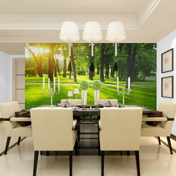 The Modern Green Forest, Wall Stickers, Non Woven Fabrics, Tv ...