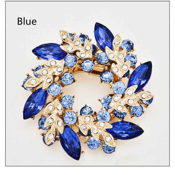 Europe and the United States 2017 Bauhinia flower pin scarf buckle dual-use fashion jewelry brooch corsage high-grade alloy diamond brooch