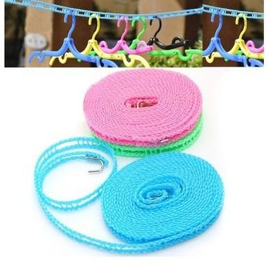 5m coupe-vent corde à linge antidérapante corde à linge pendre pour le camping en plein air voyager (couleur aléatoire)